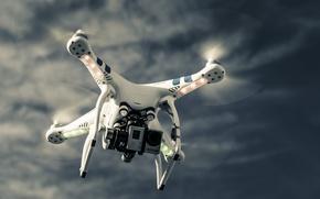 Картинка sky, technology, drone, high technology, quadcopter, high tec, dji phantom