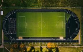 Обои поле, стадион, спорт