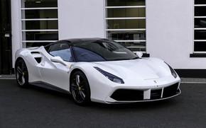 Картинка Ferrari, GTB, White, 2015, 488