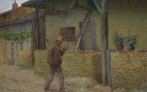 Картинка картина, жанровая, Анри-Жан Гильом Мартин, Henri Matrin, Возвращение с Полей