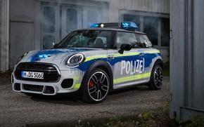 Обои MINI, 2018, Polizei, John Cooper Works