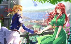 Обои арт, аниме, Violet Evergarden, девушки