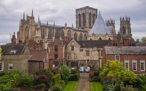 Картинка замок, Англия, дома, архитектура, дворец, York
