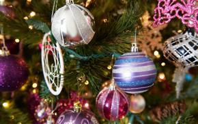 Картинка настроение, праздник, игрушки, елка, новый год