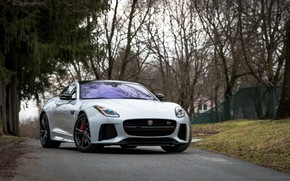 Картинка Jaguar, Road, F-Type, SVR