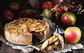 Картинка яблоки, пирог, выпечка