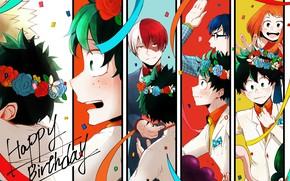 Обои Тодороки Шото, арт, Мидория, Boku no Hero Academia, Моя геройская академия, аниме