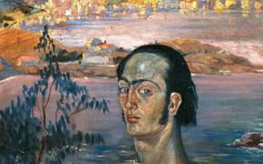 Картинка сюрреализм, картина, Сальвадор Дали, Salvador Dali, Автопортрет с Рафаэлевской Шеей