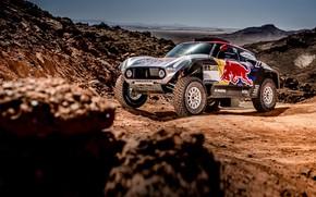 Картинка Mini, Спорт, Пустыня, Скорость, Камни, Rally, Dakar, Дакар, Ралли, Buggy, Багги, X-Raid Team, MINI Cooper, …
