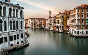Картинка Италия, Венеция, канал, Italy, Venice, cityscape, Panorama, channel, Grand Canal