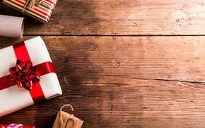 Картинка Новый Год, Рождество, подарки, Christmas, wood, Merry Christmas, Xmas, decoration, gifts, holiday celebration