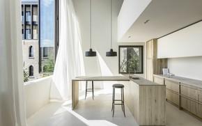 Картинка интерьер, кухня, столовая, Cube Apartment, by Arjaan De Feyter