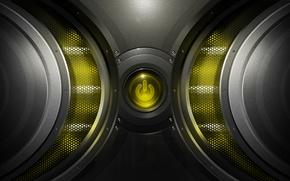 Картинка сетка, кнопка, power. yellow