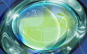 Картинка шар, текстура, элипс, изогнутые линии