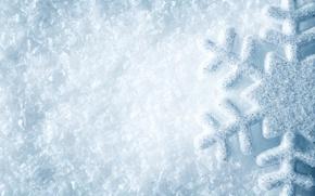 Картинка white, снежинка, winter, snow