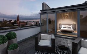 Картинка кресла, балкон, спальня