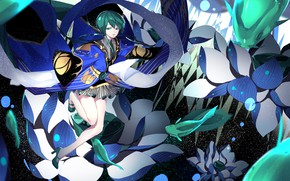 Картинка девушка, рыбки, аниме, арт, Houseki no Kuni