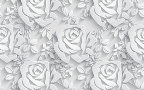 Картинка розы, Цветы, паттерн, pattern, seamless, Floral, бесшовный