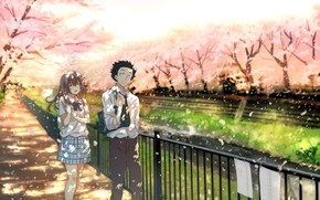 Картинка Nature, Movie, Manga, Couple, Koe no katachi, A silent voice, Shouya Ishida, Shoko Nishimiya