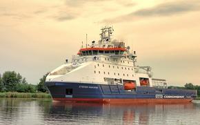 Картинка судно ледового класса, судно обеспечения, Степан Макаров