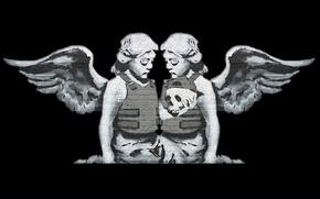 Картинка angel, street art, Benksy