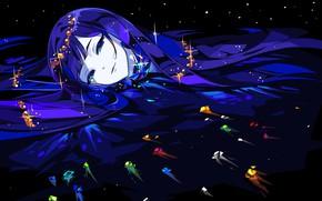 Картинка девушка, аниме, арт, Houseki no Kuni, Страна Самоцветов