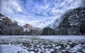 Картинка зима, горы, природа