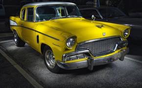 Картинка желтый, автомобиль, Studebaker, Commander