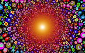Картинка круги, яркие цвета, векторная графика