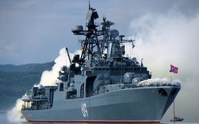 Картинка учения, большой противолодочный корабль, адмирал трибуц, проект1155