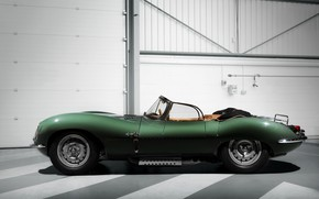 Обои зелёный, полосы, XKSS, фон, Jaguar, свет