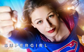 Обои постер, Melissa Benoist, Мелисса Бенойст, Супергёрл, сериал, TV Series, Supergirl, костюм