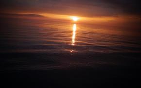 Обои закат, солнце, море