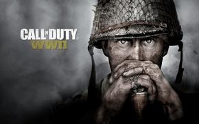 Обои head, uniform, fog, soldier, helmet, Activision, 2nd World War, man, seifuku, war, World War II, ...
