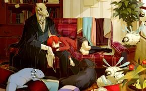Обои комната, животные, романтика, Невеста чародея