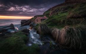 Картинка море, побережье, Испания, Spain, Asturias, Vallina Beach