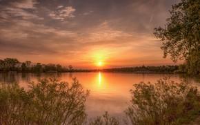 Обои красота, закат, пейзаж, природа