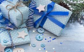 Картинка елка, Новый Год, Рождество, подарки, happy, Christmas, blue, New Year, Merry Christmas, Xmas, gift, decoration