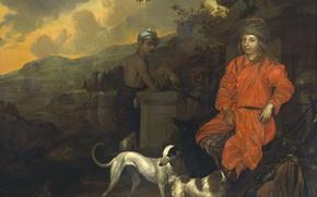 Картинка масло, картина, холст, Johan de la Rocquette, Двойной Портрет
