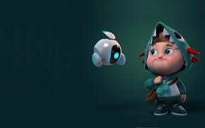 Картинка фантастика, андроид, детская, Carlos Ortega Elizalde, Hisense ULED, мапыш