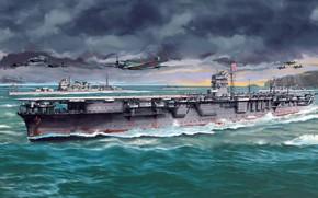 Картинка aircraft carrier, IJN, hiryu