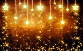 Обои Фон, Звезды, Искры, Свет
