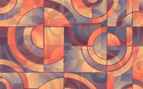 Обои круги, дизайн, абстракция, геометрия