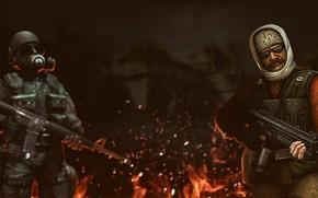 Картинка Огонь, Half-Life, Fire, Art, wallpapers, Counter-Strike, cs 1.6, Контра