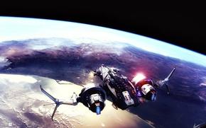 Обои space, ship, fanart, sci fi, star conflict