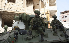 Картинка солдаты, Армия, Россия, Сирия, БТР-82А