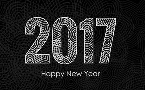Картинка узор, графика, Новый год, New Year, Holidays, 2017