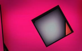 Обои объем, слой, краски, линии, квадрат