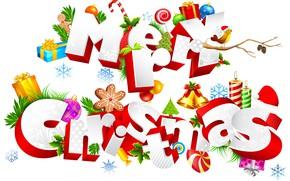 Картинка новый год, рождество, белый фон