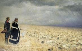 Картинка масло, холст, Панихида. 1877—1878, Побеждённые, (1842 — 1904)., Василий (Васильевич) ВЕРЕЩАГИН
